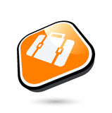 Orange suitcase button Royalty Free Stock Photography