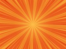 Orange Summer Abstract Comic Cartoon Sunlight Background. Vector Illustration