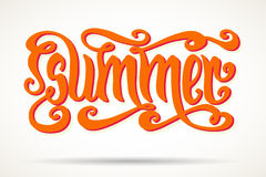 Orange summer lettering Royalty Free Stock Images