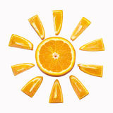 Orange sun Stock Images