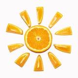 Orange sun Stock Images
