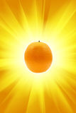 Orange and sun Royalty Free Stock Photo