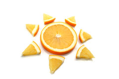 Orange sun Royalty Free Stock Images