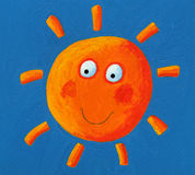 Orange Sun on the blue sky Stock Photo