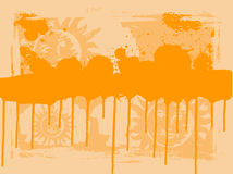 Orange Sun Drips Royalty Free Stock Image