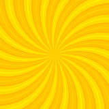 Orange Sun hypnotic background. Vector illustration Stock Photos