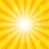 Orange Sun hypnotic background. Vector illustration Royalty Free Stock Images