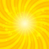 Orange Sun hypnotic background. Vector illustration Stock Image