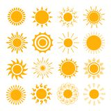 Orange Sun icons Stock Photography