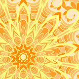 Orange sun pattern Stock Photography