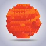 Orange sun polygon  background Royalty Free Stock Image