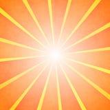 Orange sun rays beams background Stock Photography