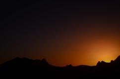 Orange Sun Setting Stock Image