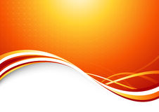 Orange sunburst - abstract futuristic background Royalty Free Stock Images