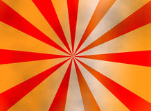 Orange sunburst background Stock Images