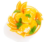 Orange sundae, view from above Stock Photography