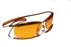 Orange sunglasses. Isolated on white royalty free stock photo