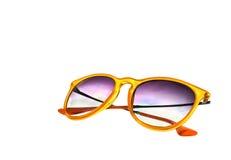 Orange Sunglasses isolated on white background Royalty Free Stock Images