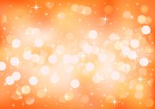 Orange sunny festive lights, vector background. Royalty Free Stock Photos