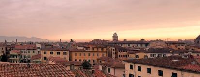 Orange Sunrise Above Pisa Tuscany Stock Photos