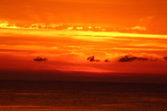 Orange Sunrise Stock Images