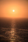 Orange Sunset. Beautiful orange sunset in Palos Verdes California Royalty Free Stock Image
