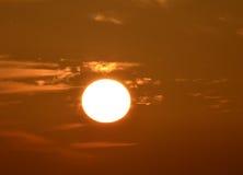 Orange Sunset. In the mediterranean sea in autumn Royalty Free Stock Image