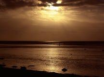 Orange Sunset. Over Peaceful Water royalty free stock photo