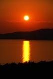 Orange sunset Royalty Free Stock Photos