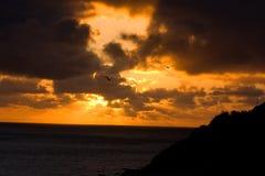 Orange sunset Stock Photos