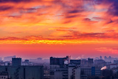 Orange sunset Stock Photography