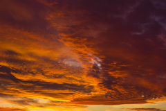 Orange sunset clouds stock photography