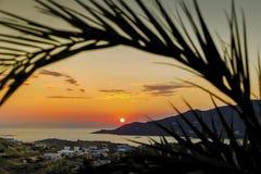 Orange Sunset. Landcape Photography. stock image