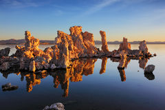 Orange sunset on Mono Lake Stock Images