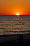 Orange sunset over beach Royalty Free Stock Photo