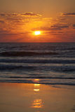 Orange sunset over beach Royalty Free Stock Photography
