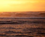Orange sunset over Na Pali Royalty Free Stock Image