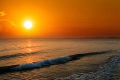 Orange sunset over sea Royalty Free Stock Photography