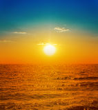 Orange sunset over sea Royalty Free Stock Photography