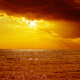 Orange sunset over sea Royalty Free Stock Photos