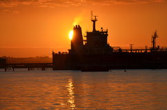 Orange Sunset Over Terminal Royalty Free Stock Image