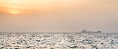 Orange sunset on Red Sea Stock Images