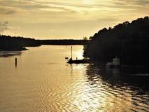 Sunset in the Turku Archipelago, Finland stock image