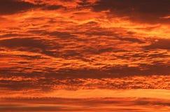 Orange sunset sky Stock Photography