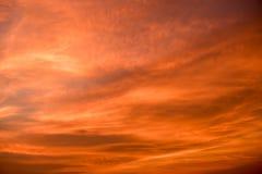Orange sunset sky Stock Images