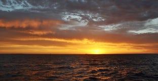 Orange Sunset Sky: Indian Ocean, Western Australia Royalty Free Stock Photo