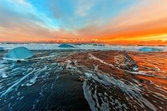 Orange sunset Stock Image
