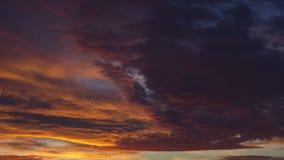 Orange sunset timelapse stock footage