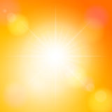 Orange sunspot Stock Image
