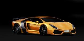Orange super car stock image